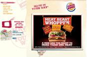 New Burger King website