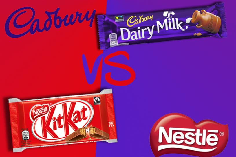 marketing strategy of nestle vs cadbury Marketing strategy: cadbury's biggest competitor, nestle, often stresses the energy giving aspects of chocolate, or on other attributes of the chocolate - taste in .