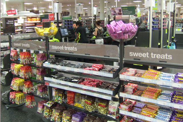 Confectionery brands: under pressure over positioning at checkouts