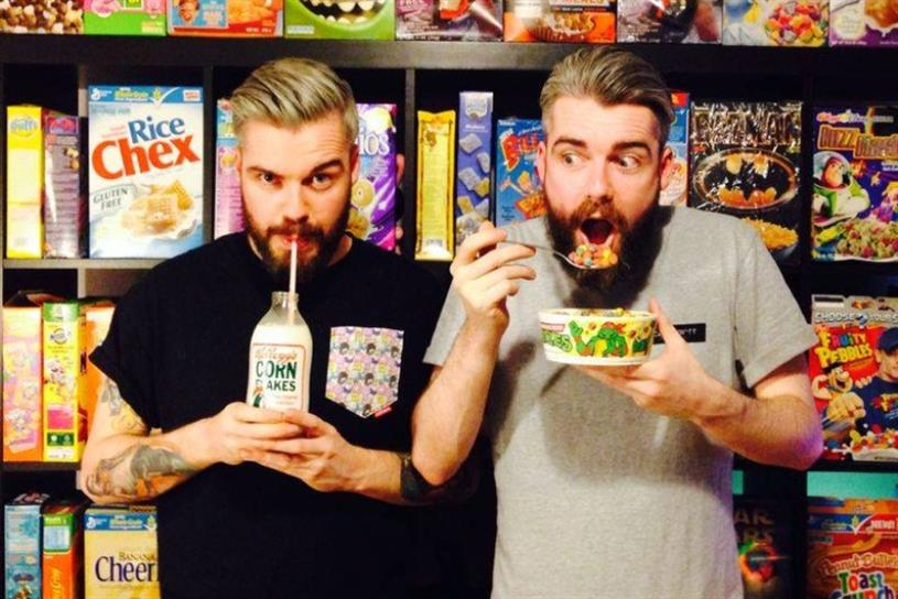 Nostalgia: Cereal Killer Cafe co-founders Alan (left) and Gary Keery