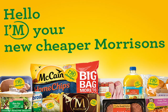 Morrisons: unveils campaign to promote the supermarket as la ower-priced retailer