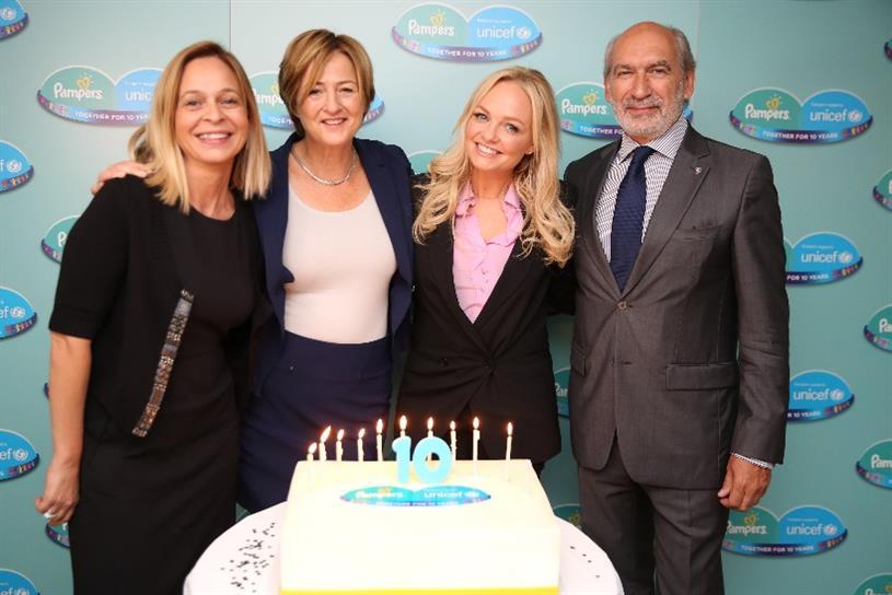 Brand purpose: Unicef ambassador Emma Bunton celebrating a 10-year partnership with P&G