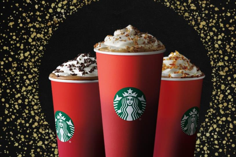 Starbucks: Christmas campaign includes a branded hash-flag of a red cup