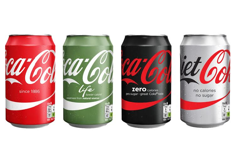 Coca-Cola: marketing all variants under master brand