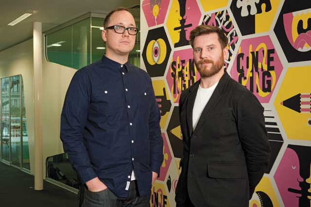 Billy Faithfull, creative director, WCRS with creative partner Ross Neil
