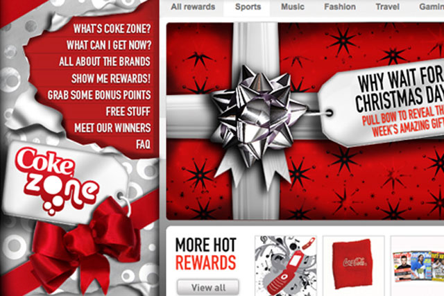 Coke Zone: online activity by Carlson Marketing