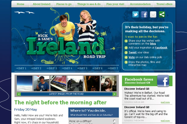 Tourism Ireland: rolls out road trip campaign