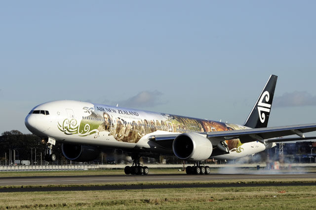 Air New Zealand: Hobbit-themed airliner takes to the air