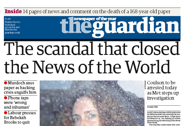 The Guardian set the news agenda in 2011