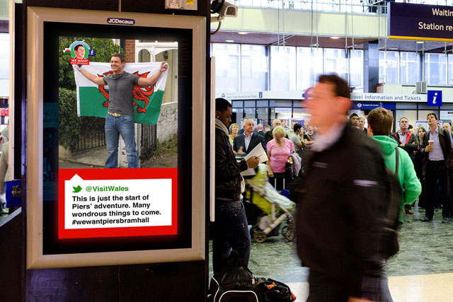 Visit Wales: kicks off digital outdoor campaign