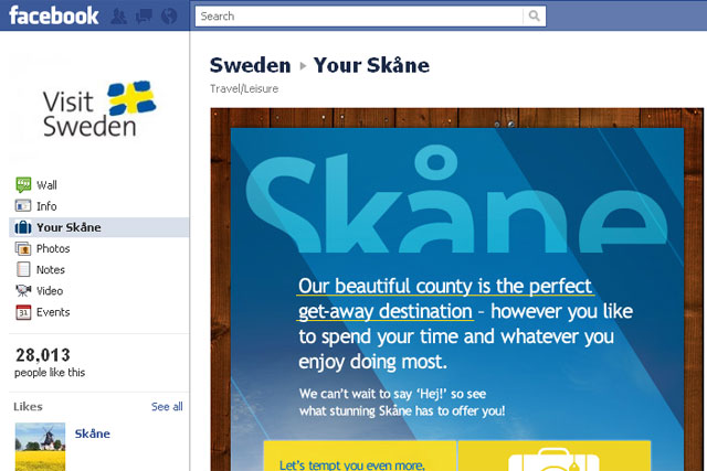 Visit Sweden: Glue Isobar create Facebook app