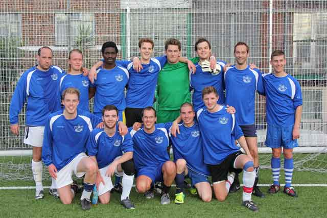Grey's team (Back row left to right) Patrick Wisnom, Rasmus Smith Bech, Joe Arojojoye, Owen Garrood, Grant Paterson, Mike Clarke, Matt Buttrick, Tom Pearce (Front row left to right) Gareth Hall, Ryan Deluchi, James Sutton, Youssri Rahman, Alex Manzi