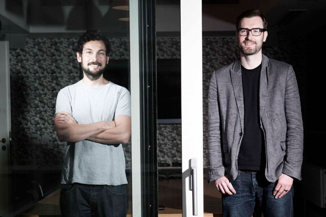 Chris Bovill (r) and John Allison: created award-winning work at Fallon