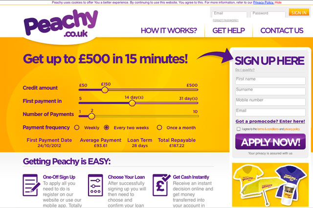 Peachy.co.uk: contacted agencies directly