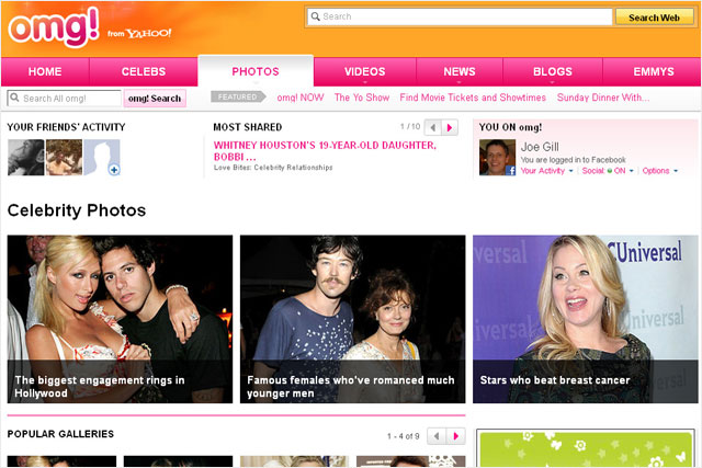 omg!: Yahoo rolls out activity for the celebrity gossip site