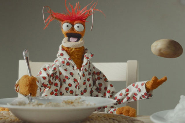 Pepe the Prawn: stars in Cravendale's Muppet-themed campaign