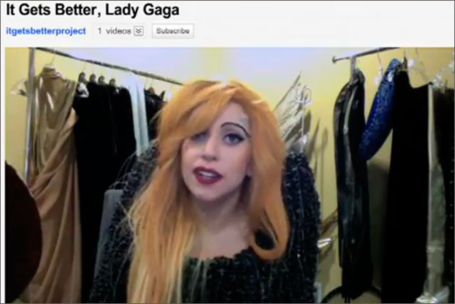 Lady Gaga: supports the 'It Gets Better' campaign