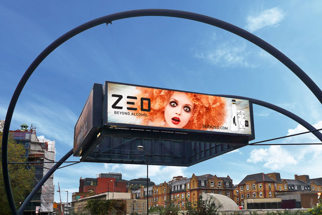 Zeo: ad on JCDecaux's Old Street roundabout billboard