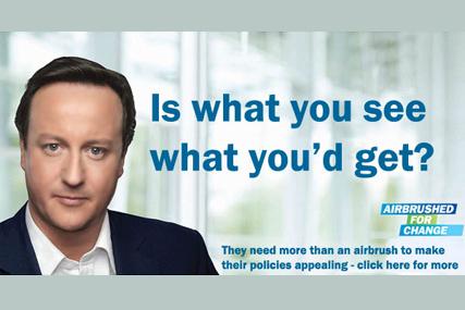 Labour campaign: spoof Conservative ad