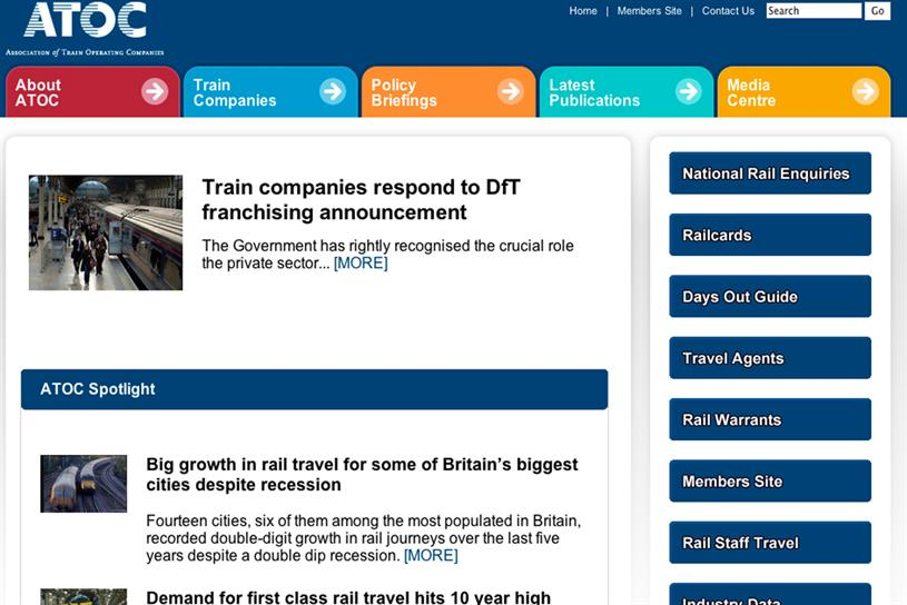 Association of Train Operating Companies: One of three accounts picked up by Carat in quick succession, leading to its number-two position the table