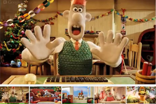 Google+ Hangout: Wallace and Gromit characters star in festive ad