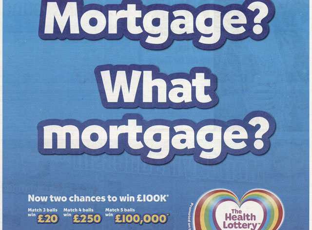 The Health Lottery: press ad banned by the ASA