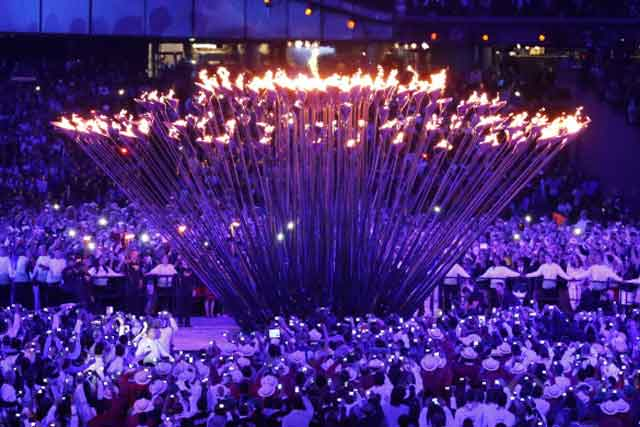 London 2012 Olympic cauldron