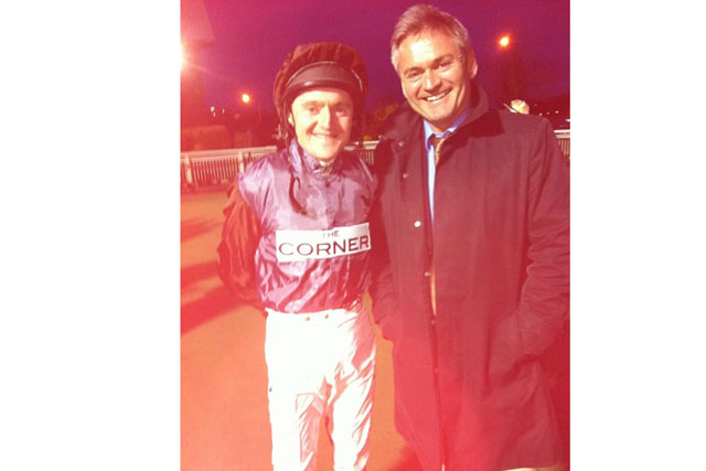 Jockey with Corner co-founder Neil Simpson