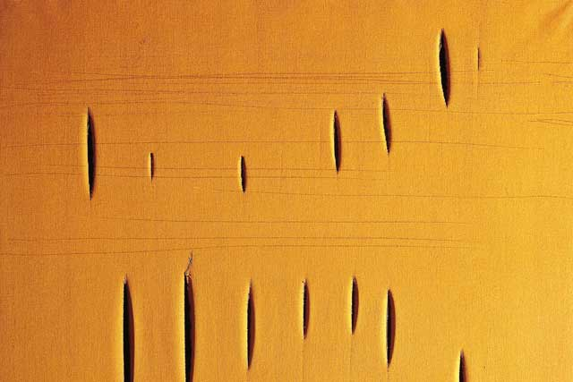 Lucio Fontana's paintings