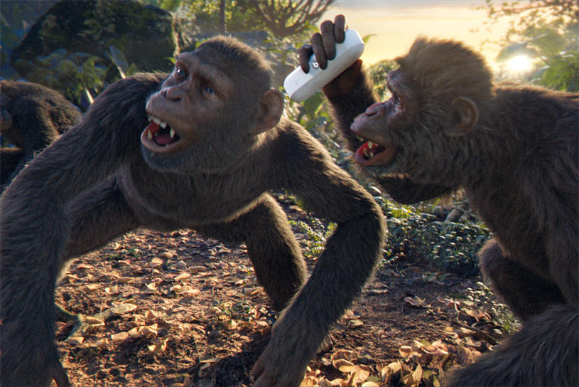 Coldplay made a film that featured the four band members as animated chimpanzees