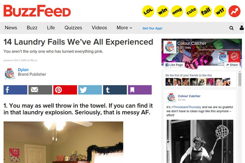 Laundry Fails: article not easily identifiable as an ad, the ASA ruled