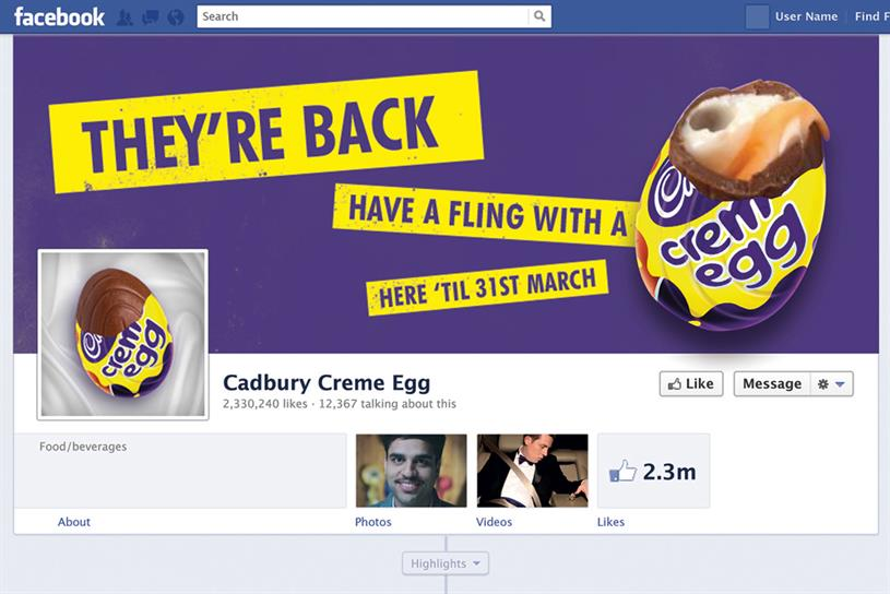 Cadbury Creme Egg: most successful European social campaign