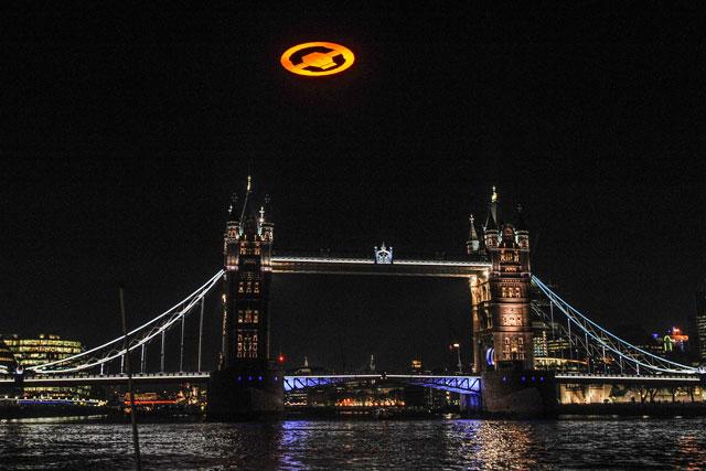 Halo: symbol over Tower Bridge