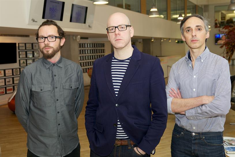 New Grey London team...(l-R) Wright, Rayman, Jacovides