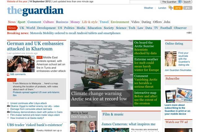 The Guardian: digital news doing well
