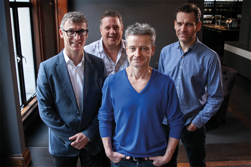 FCB Inferno: (l-r) Gibney, Doust, Al Young and White are part of the agency's senior team