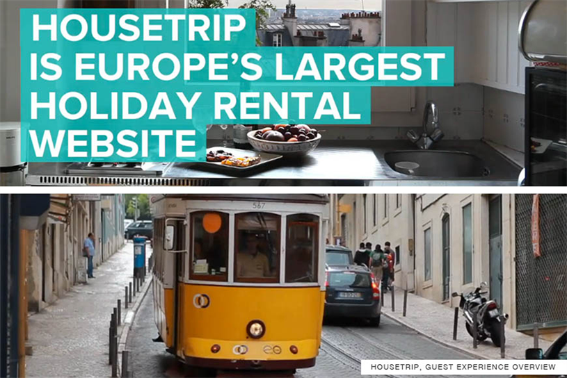 HouseTrip: first ad shop hire