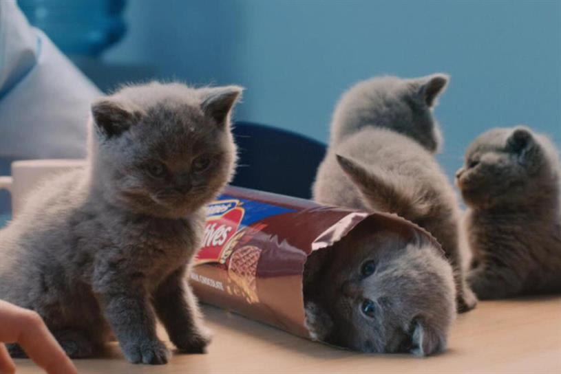 McVitie's well-known kittens will return in an ad targeting a younger audience