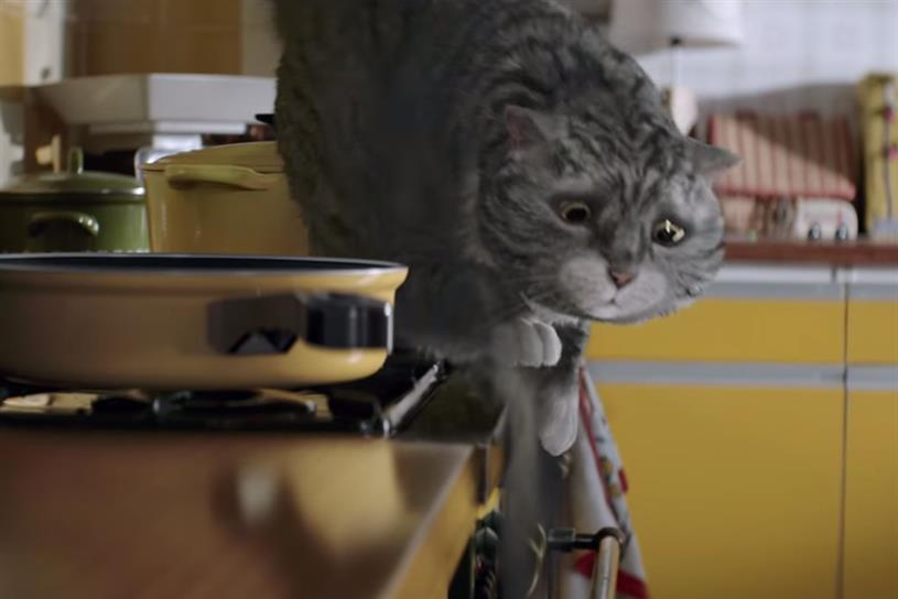 Mog: Judith Kerr's cute cat fronts this year's Sainsbury's Christmas campaign