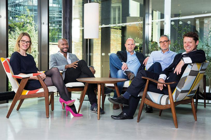 MullenLowe's senior management team (l-r): Arden, Myers-Lamptey, Knox, Sokoloff and Gall. The past three years have been a rollercoaster ride for the London group