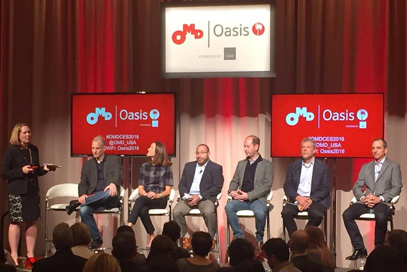 The OMD Oasis panel at CES included speakers from Spotify, Under Armour and more