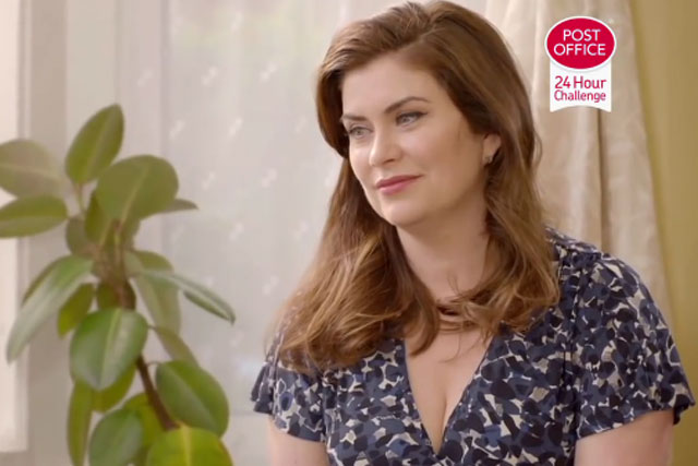 Amanda Lamb: stars in Post Office '24-hour challenge' TV spot