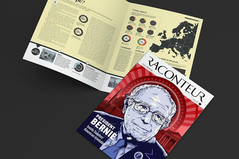 Raconteur: a mock-up of the title due to launch next month