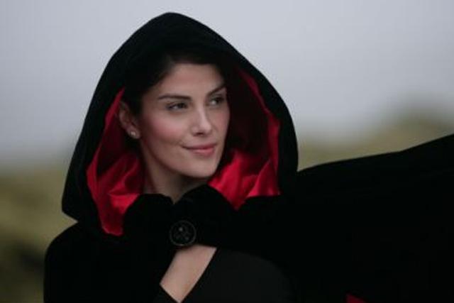 Scottish Widows: Hayley Hunt as the hooded widow
