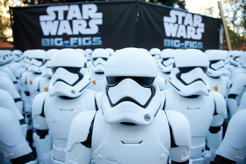 Star Wars: one of several high-profile movie releases during 2015 that helped cinema ad sales at DCM rise 27 per cent over the year