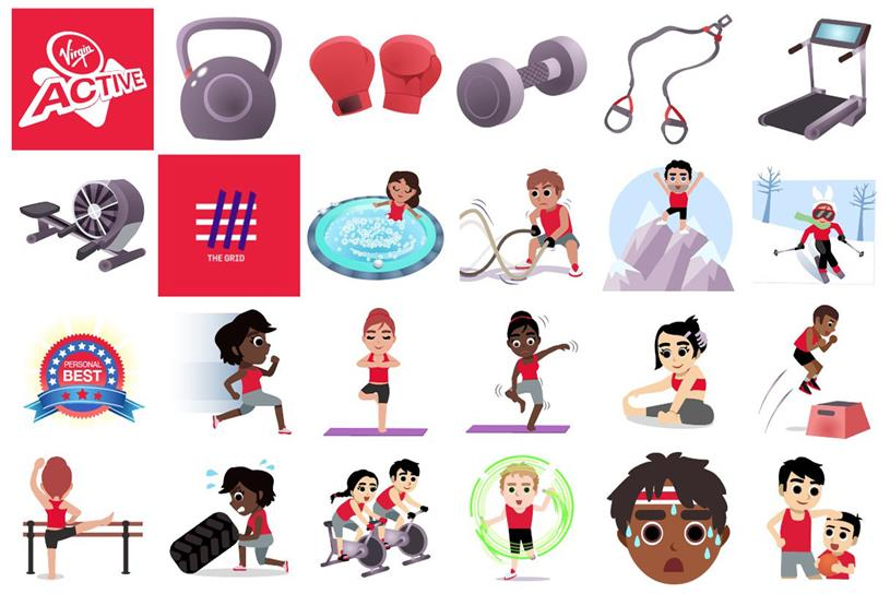 Virgin Active: it has launched fitness emojis