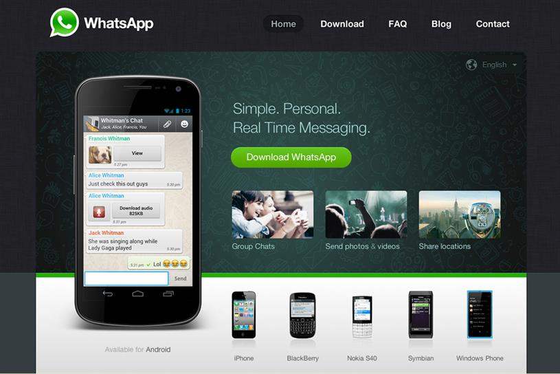 WhatsApp: the ad-free messaging service cost Facebook 19 times the amount it paid for Instagram