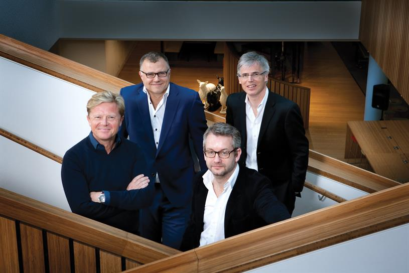 Moore, Fennell, Paterson and Hall (l-r): the joint venture, which will share revenue and costs, could handle other BBH clients