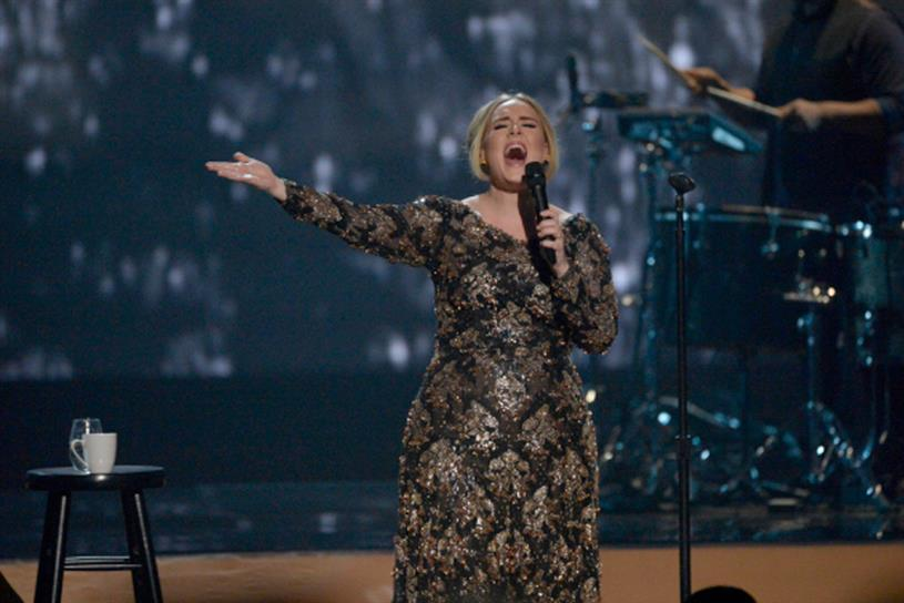 Adele: singer is part of the Columbia Records label, owned by Sony Music Entertainment