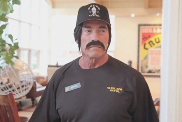 Arnold Schwarzenegger: former Governor dons disguise in this week's viral hit
